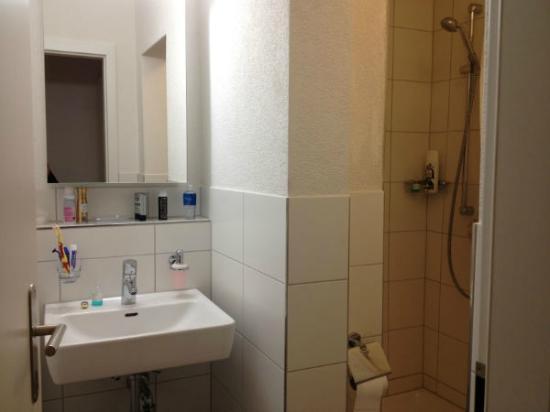 Hotel Loewen : Really small bath