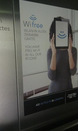 NH Wien Belvedere: Wi-Fi is free...