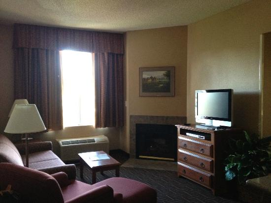 Hampton Inn & Suites Flagstaff: Living room of One-bedroom suite