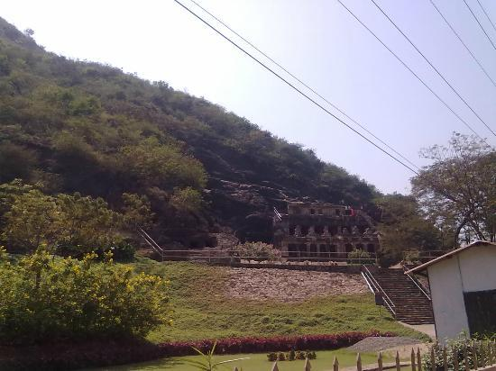 Undavalli Caves: Lawn/Front