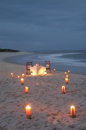 Ras Kutani: Feel the sand between your toes during private romantic dinners on the beach