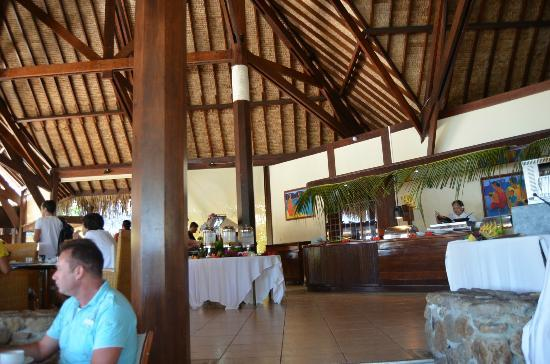 Manava Beach Resort & Spa - Moorea: Breakfast/Dinner area
