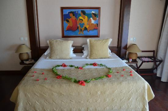 Moorea Pearl Resort & Spa: Honeymoon decoration
