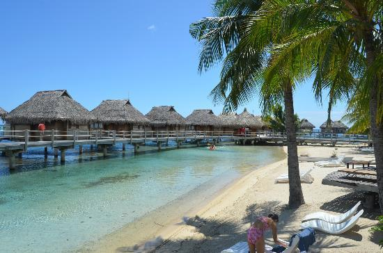 Manava Beach Resort & Spa - Moorea: View from our beach bungalow