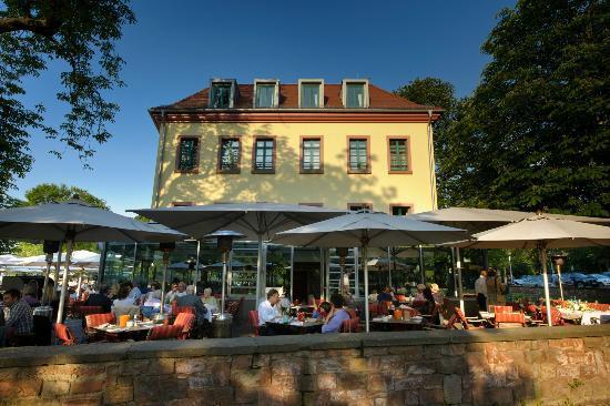 Gerbermühle Hotel: Gerbmühle Terrasse