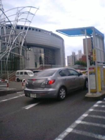 Osaka Science Museum : 大阪市立科学館 ~ 科学館の駐車場から科学館を望む