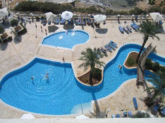 Radisson Blu Resort & Spa, Malta Golden Sands: Amazing view of pools
