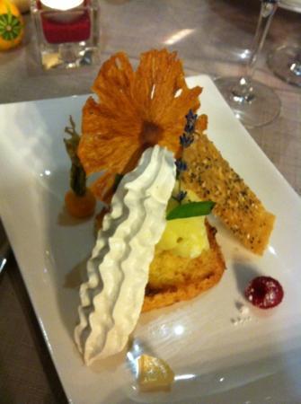 "La Table d'Aranda: dessert ""piña colada"" un régal"