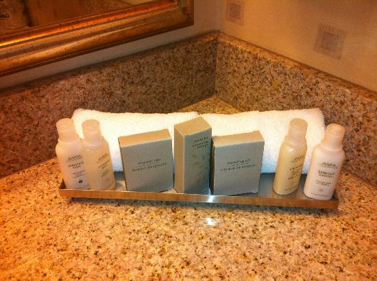 The Statler Hotel at Cornell University: Aveda Toiletries are the Best!