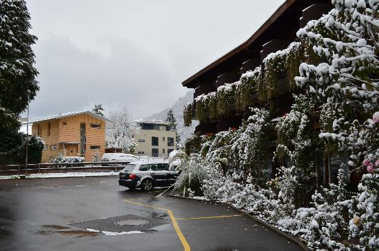 Hotel Chalet Swiss: Nice look during snowfall..