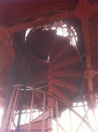 The Blackpool Tower: The closed off upper level not accessible to visitors