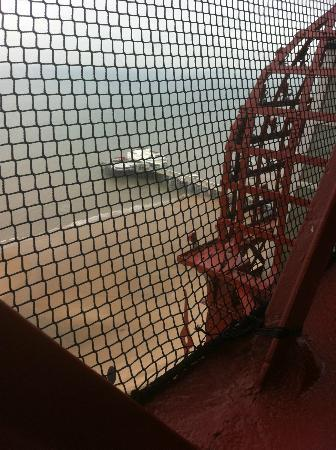 Tour et Cirque de Blackpool (Blackpool Tower and Circus) : The pier through the mesh