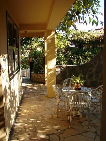 Hotel Mandragora: Patio de la Habitacion