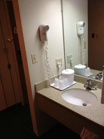 The View Inn & Suites: In room vanity