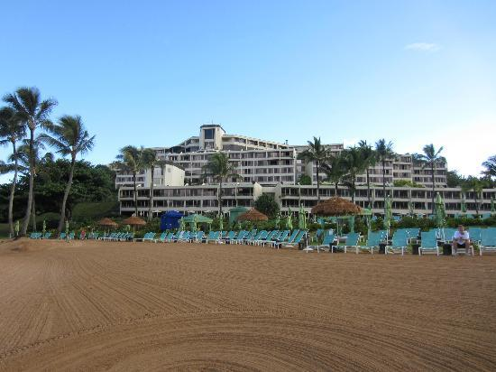 St. Regis Princeville Resort: View of the hotel from the beach