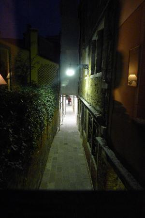 Hotel Agli Alboretti: View from window - shuttered at night