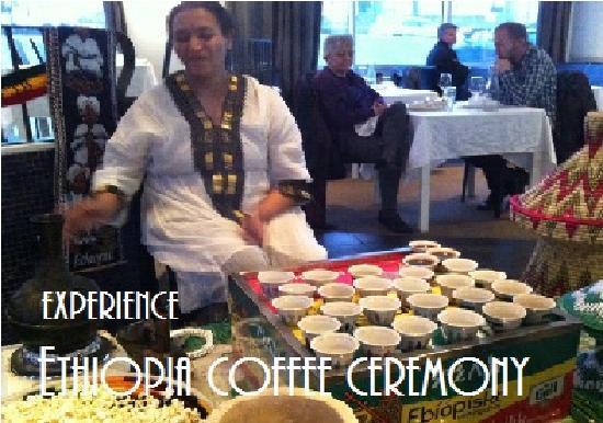Minilik Ethiopisk Veitingahus: Ethiopian coffee ceremmony