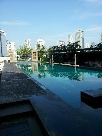 Oaks Bangkok Sathorn : Swimming pool shared by Anantara/Oaks residents