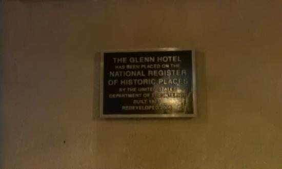 Glenn Hotel, Autograph Collection: on outside wall of the hotel