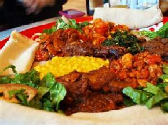 Minilik Ethiopisk Veitingahus: Vegitarian combination