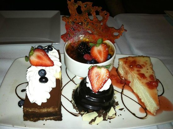 Complimentary Dessert Tray for Diamond Players.