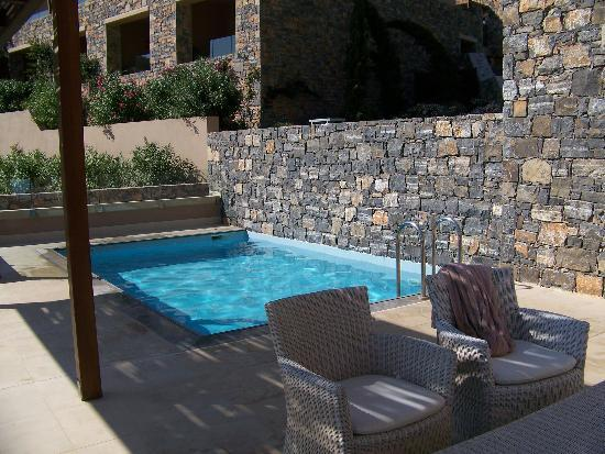 Daios Cove Luxury Resort & Villas: terrasse+piscine des suites