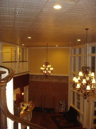 The Daniel: Looking down to foyer / front desk