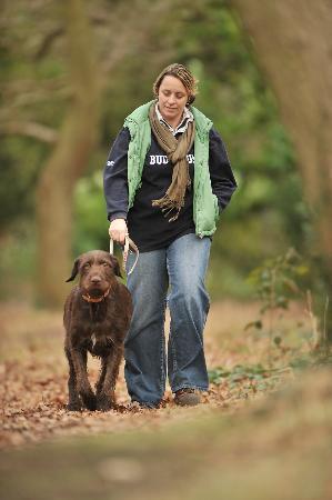 Royal Victoria Country Park Chapel: Dog walking