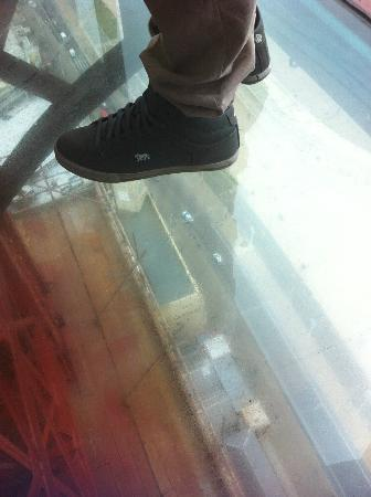Tour et Cirque de Blackpool (Blackpool Tower and Circus) : Standing on the Glass Floor