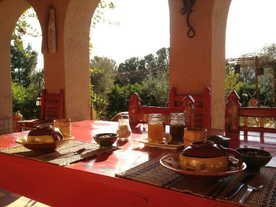 Kasbah Timdaf : Breakfast on the back patio