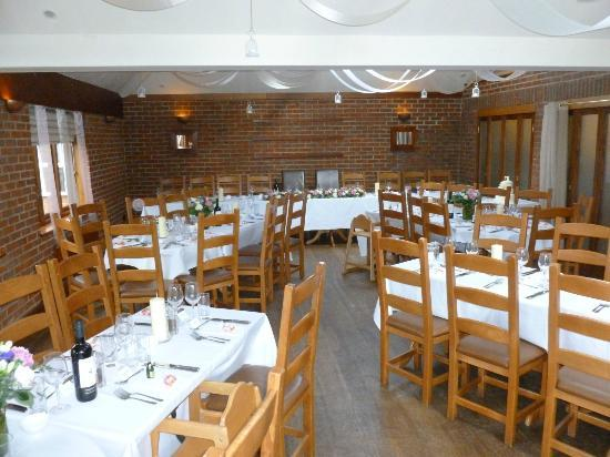 The White Hart Inn: Dining area set up for Wedding Celebration Meal