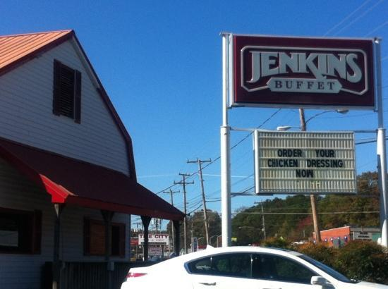 Jenkins Country Style Buffet: coming from I-75 it's on the left