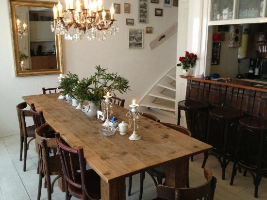 Amsterdam At Home: Table and Spiral Staircase