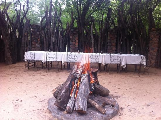 Dulini Lodge: time for barbecue