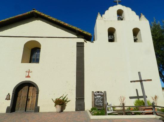 Old Mission Santa Ines: Front of the church