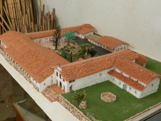 San Luis Obispo, CA: Model of the original mission
