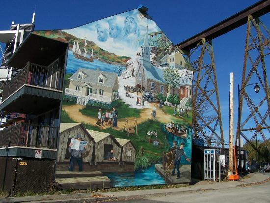 Parc Nautique de Cap-Rouge: La Fresque (les Découvreurs, Tracel, La Grande Hermine)