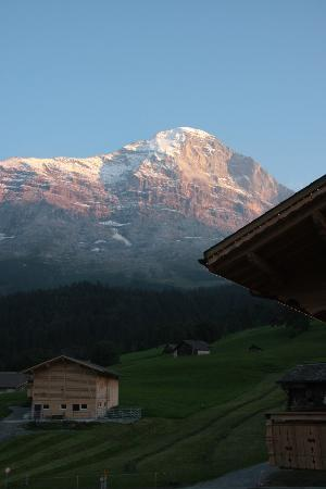 Aspen Alpin Lifestyle Hotel Grindelwald: View of the North face of the Eiger from our room