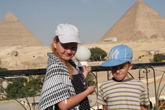 Pyramids View Hotel: widok z dachu hotelu