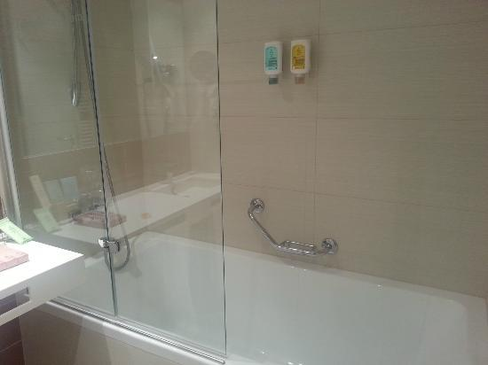 LOFT Hotel Bratislava: The tub in our room had high sides, may be difficult to get into