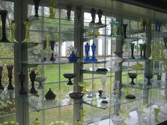 Sandwich Glass Museum: One of the display cases.