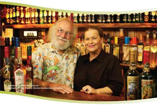 Tamborine Mountain Distillery: The owners and a top bloke