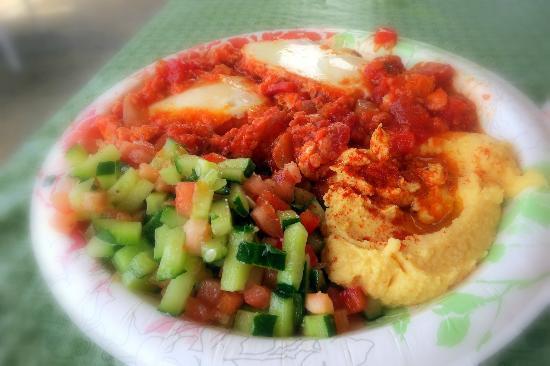 Falafel In Paradise: breakfast plate