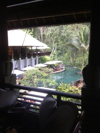 Maya Ubud Resort & Spa: Spa and pool cafe , maya