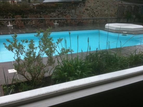 Hotel Restaurant des Isles: vue du restaurant sur piscine