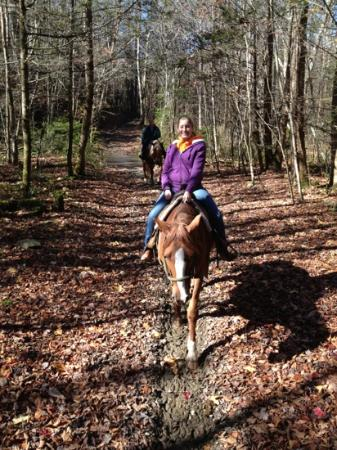 Smoky Mountain Riding Stables : Lynnsey and Bunny on a beautiful autumn day