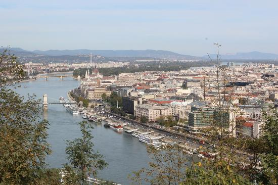 Cerro y Estatua Gellert: Gellert Hill view of Danube