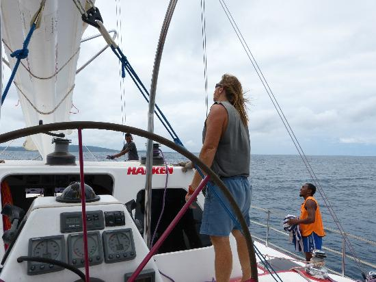 Performance Marine Sailing Charters: raising the sails