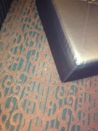 Hampton Inn Birmingham-Colonnade 280: Food crumbs left under the ottoman.