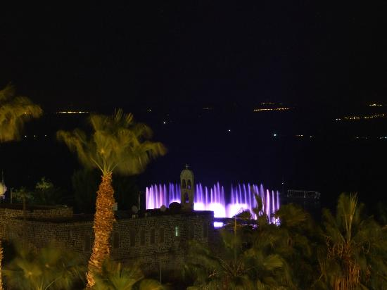 Hotel Aviv : Tiberias Light show from my room at the Aviv